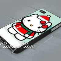 Hello kitty Christmas - Print on hardplastic for iPhone 4/4s and 5 case, Samsung Galaxy S3/S4 case