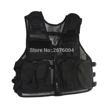 Tactical Adjustable vests Military Men Outdoor Travels Mesh Vest Sport Photographer Vests Fishing Hunting Waistcoat with Pockets