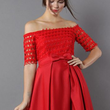 Drops of Flair Red Dress