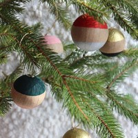 Paint Dipped Ornaments, Set of 5
