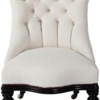 One Kings Lane - Claudia Benvenuto - Antique Tufted Slipper Chair