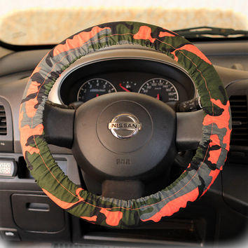 Steering-wheel-cover-for-wheel-car-accessories-Army-Camouflage-Military-Hot-Orange-Wheel-cover