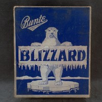 Vintage Candy Bar Box – Old Bunte Blizzard Candy Box with Polar Bear