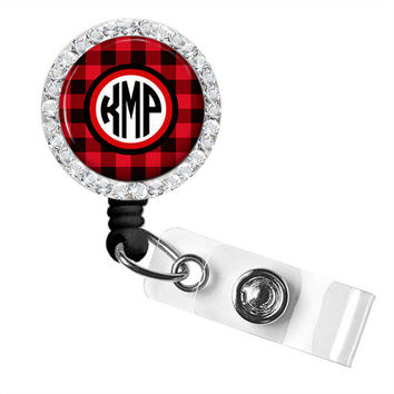 Monogram Badge Reel, Monogram ID Badge, Monogram Retractable Badge Reel, Personalized Badge Reel (534)