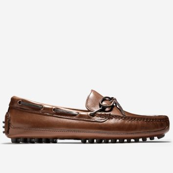 Grant Canoe Camp Driving Loafer in Papaya Brown by Cole Haan