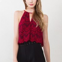 Wine Tasting Lace Top*