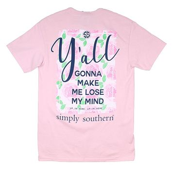 Preppy Y'all Tee in Rose by Simply Southern