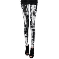 Punk Gothic Rock Kere Visual kei Japan Fashion Womens Leggings Good Elastic T01