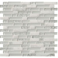 MS International Delano Blanco 12 in. x 12 in. x 6 mm Glass Stone Mesh-Mounted Mosaic Tile-SGLS-DELBLA6MM - The Home Depot