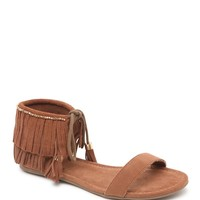 Mia Fringe Beaded Sandals - Womens Sandals - Brown