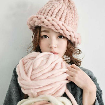Handmade Woolen Knitted Womens Hat