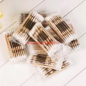 Women Beauty Makeup Cotton Swab Double Head Cotton Buds Make Up Wood Sticks Nose Ears Cleaning Cosmetics Health Care