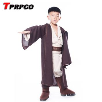 Star Wars Force Episode 1 2 3 4 5 TPRPCO Boys  Deluxe Jedi Warrior Movie Character Cosplay Party Clothing Kids Fancy Purim Carnival Costumes NL177 AT_72_6