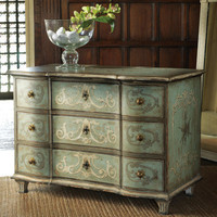 Painted and Decorated Three Drawer Commode