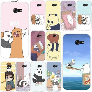 Hot Sale We Bare Bears Soft TPU Cell Phone Case Cover for Samsung Galaxy Note 2 3 4 5 8 S2 S3 S4 S5 Mini S6 S7 S8 S9 Edge Plus
