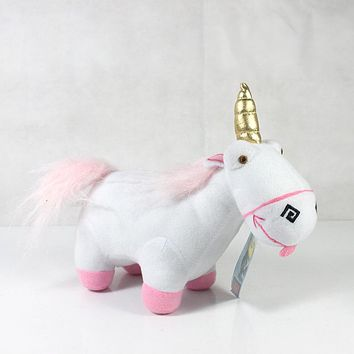 21cm Film Agnes Doll Yellow man Plush Unicorn Horse Lucky Stuffed Animal Child Toys Birthday Xams Gift Dash Pillow