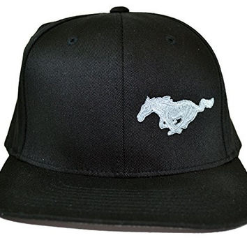 Brand NEW Ford Flex Fit Black w/ White Mustang Pony Logo Hat Size L/XL High Quality Material