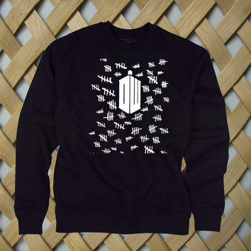 Doctor Who Tally Marks pullover sweatshirt