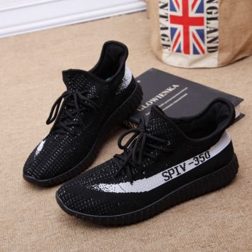 Black Running Outdoor Yeezy Boost Sneakers Breathable Athletic Sports Shoes
