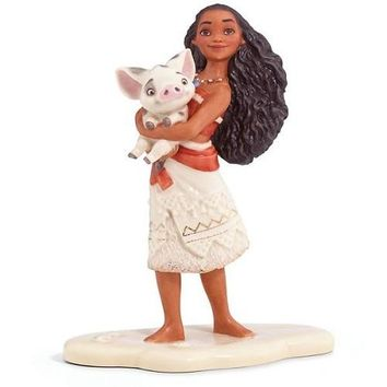 Disney's Moana and Pet Pua Figurine by Lenox
