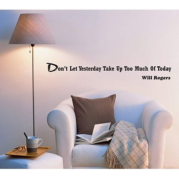 Wall Decal Inspirational Words Phrase Mirror Office Vinyl Sticker (ed1073) (22.5 in X 3 in)