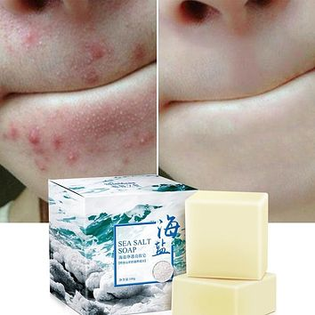 Sea Salt Soap Natural Advanced Skin Whitening and Clearing Soap, Face Wash Skin Care Moisturizing Soap