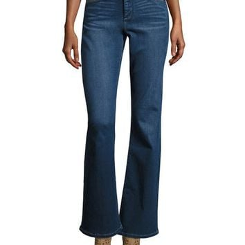NYDJ Farrah High-Waist Boot-Cut Jeans, Blue