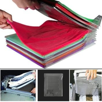 Clothes Folding Board Clothing Organization System Travel Closet Drawer Stack