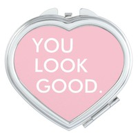 You look good funny hipster humor quote saying vanity mirror
