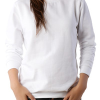 LE3NO PREMIUM Womens Classic Fit Soft Ringspun Fleece Pullover Sweatshirt (CLEARANCE)