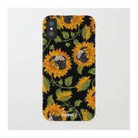 Pug Sunflowers by L  O  S  T  A  N  A  W
