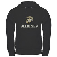 Marines [stencil] Hoodie (dark) on CafePress.com