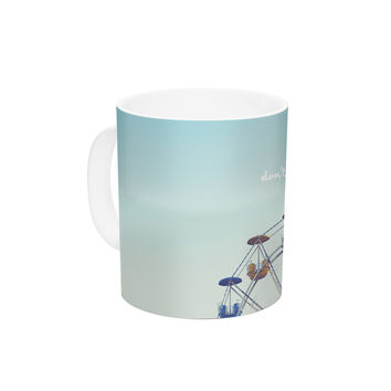 "Libertad Leal ""Don't Stop Believing"" Ferris Wheel Ceramic Coffee Mug"