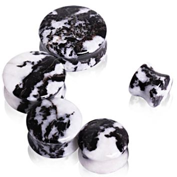 Natural Zebra Stone Saddle Plug