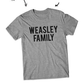 Weasley Family Harry potter shirt short Sleeve tshirt