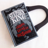 Stephen King Collection Book Purse or Book Clutch - Repurposed Book Purse