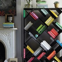 Tip-Turned Bookshelf by Anthropologie Black One Size Furniture