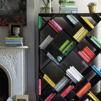 Tip-Turned Bookshelf by Anthropologie in Black Size: One Size House & Home