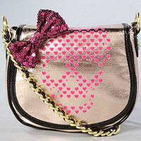 The Betseyville Glamour Skull Crossbody in Rose Gold : Betsey Johnson  : Karmaloop.com - Global Concrete Culture