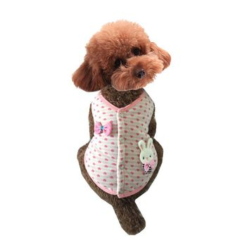 Lovely Vests Bow Pattern Dog Clothes
