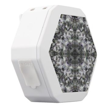Silver Lace White Bluetooth Speaker