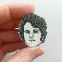 Mr. Darcy/Pride and Prejudice/Colin Firth/Illustrated Pin/Pin/Necklace Charm