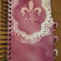 TEN DOLLARS SALE! Fleur de Leis Album, Chipboard Album, Magenta Photo Book, Ready to Fill Photo Album, Cranberry Photo Album, Deep Red