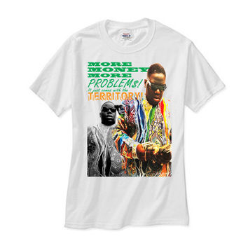 Notorious BIG More Money More Problems white tee