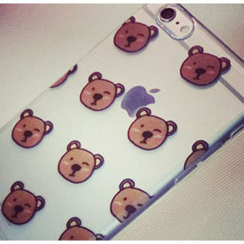 So Many Brown Bears, Designed SOFT Silicon iPhone Case, TPU Case, iPhone 6 Plus Case, iPhone 6 Case, iPhone 5s Case, iPhone 5 Case, Brown