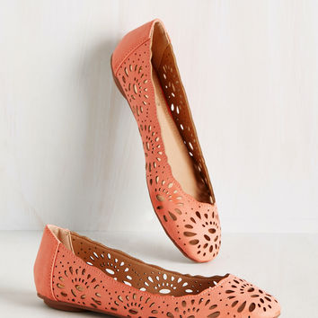 Live in the Momentum Flat in Carnation | Mod Retro Vintage Flats | ModCloth.com
