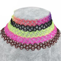 80's Stretch Tattoo Choker