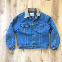 80s Canyon Creek Storm Rider Jacket - Lined Denim Jacket - Size Small/Medium - Storm Rider Denim Coat - Mens Clothing - Unisex - Vintage