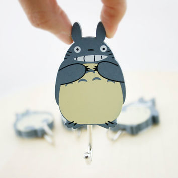 Totoro  Wall Hook  Hook  Wall Hanger  Hanger  Wall Decor  Home 1a7f4cc07c