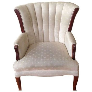 Pre-owned Queen Anne Channel Back Chair